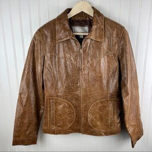 Wilsons Leather Vintage Brown Maxima Jacket Large